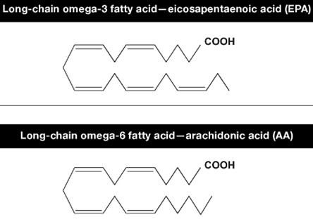 Molecular structure of long-chain omega-3 and omega-6